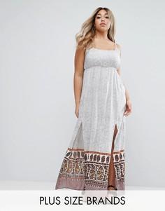 Платье макси с разрезами Diya Plus - Мульти