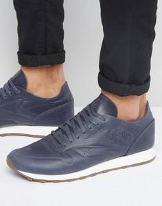 Темно-синие кожаные кроссовки Reebok Classic BD1751 - Серый