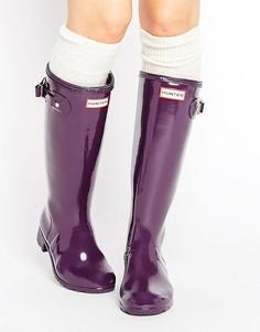 Регулируемые высокие резиновые сапоги Hunter Original - Фиолетовый