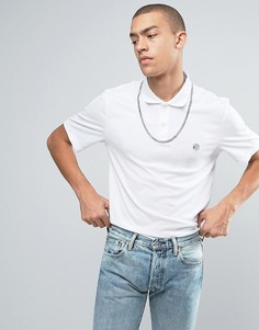 Белая футболка-поло в стиле ретро Reebok BK6583 - Белый