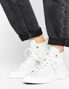 Белые кожаные высокие кроссовки Converse Chuck Ii - Мульти