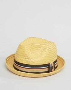 Соломенная шляпа-федора Brixton Castor - Рыжий