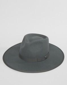 Мягкая фетровая шляпа Brixton Homestead - Серый