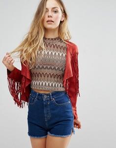 Куртка с бахромой Glamorous - Красный