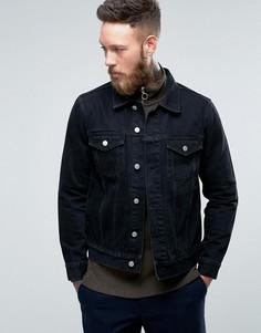 Черная джинсовая куртка Weekday Single - Черный