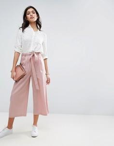 Льняные юбка-брюки ASOS - Розовый