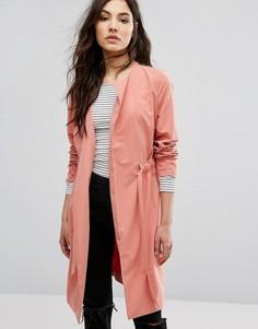 Легкая куртка с поясом Vila - Красный