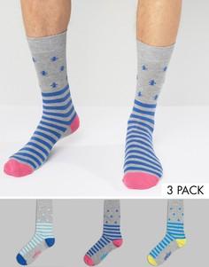 3 пары носков в полоску Original Penguin - Мульти