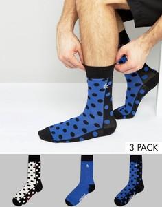 Набор из 3 пар носков в горошек Original Penguin - Мульти