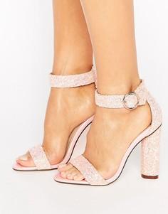 Босоножки на каблуке Truffle Collection - Розовый