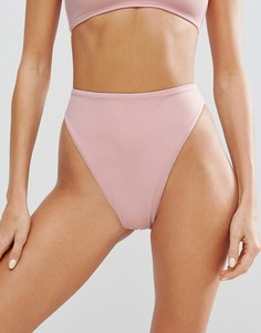 Плавки бикини однотонного цвета Missguided - Розовый