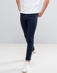 Темно-синие саржевые джинсы слим Farah Drake - Синий