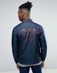 Темно-синяя узкая куртка с логотипом на спине Timberland - Темно-синий