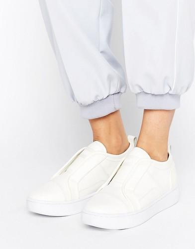 Белые кожаные кроссовки-слипоны G-Star - Белый