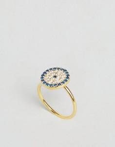 Кольцо c амулетом Третий глаз Ottoman Hands - Золотой