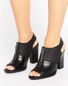 Черные кожаные босоножки на каблуке G-Star Lynn - Черный
