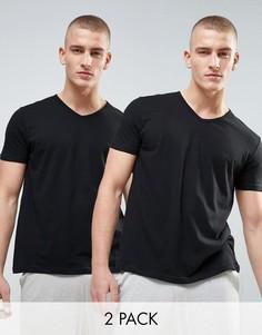 2 хлопковые майки с V‑образным вырезом Emporio Armani - Черный