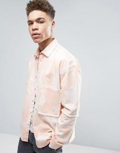 Рубашка навыпуск с камуфляжной отделкой ASOS - Розовый