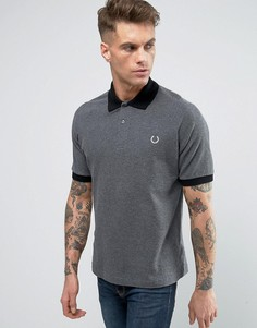 Fred Perry REISSUES Polo Pique Contrast Collar in Graphite Marl - Серый