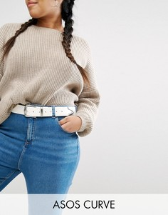 Белый ремень для джинсов ASOS CURVE - Белый