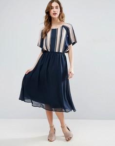Шифоновая юбка миди Vila - Темно-синий