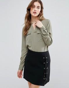 Рубашка с карманами Vila - Зеленый