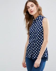 Рубашка в горошек без рукавов Vila - Темно-синий