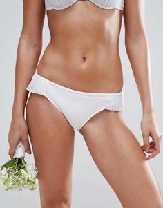 Плавки-бикини с плиссированными вставками ASOS BRIDAL - Белый