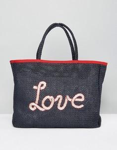 Летняя пляжная сумка-тоут Tommy Hilfiger - Темно-синий
