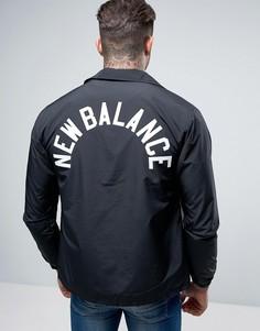 Черная спортивная куртка New Balance MJ71529_BK - Черный