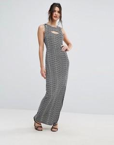 Облегающее платье с принтом BCBG - Мульти