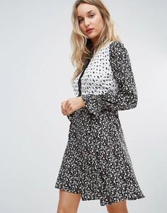 Платье-рубашка с комбинируемым принтом Influence - Мульти