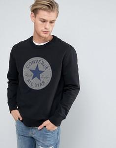 Черный свитшот в мелкий горошек Converse 10003602-A03 - Черный