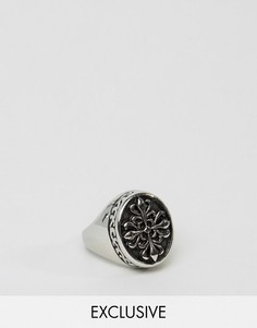 Кольцо-печатка Reclaimed Vintage Inspired - Серебряный