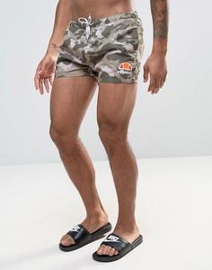 Камуфляжные шорты для плавания Ellesse - Зеленый