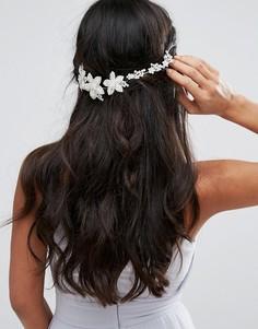 Украшение для волос со стразами Johnny Loves Rosie Bridal Range - Серебряный