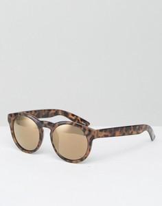 Круглые солнцезащитные очки с вырезом замочная скважина Monki Retro - Коричневый