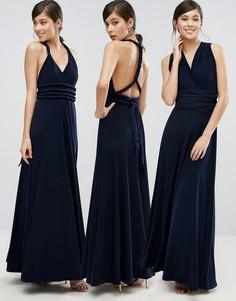 Платье макси с завязкой Coast Corwin - Темно-синий