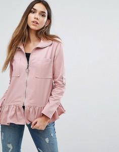 Куртка с оборкой по краю Missguided - Розовый