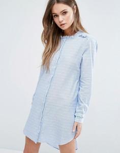 Платье‑рубашка с вырезанным воротником Vero Moda - Синий