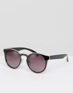 Солнцезащитные очки кошачьи глаза в стиле колор блок Monki - Черный