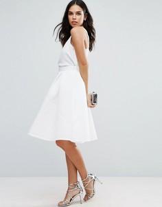 Фактурная юбка для выпускного Jessica Wright - Белый
