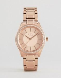 Часы цвета розового золота Armani Exchange Glitz Nicolette - Золотой