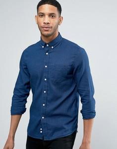 Рубашка классического кроя на пуговицах с длинными рукавами Celio - Темно-синий