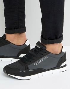 Кроссовки со светоотражающим логотипом Calvin Klein Jude - Черный