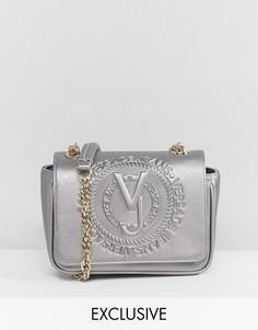 Сумка через плечо с эффектом металлик и тиснением Versace Jeans - Золотой