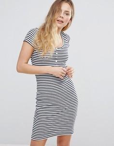 Облегающее платье в полоску Brave Soul - Синий
