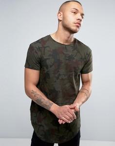 Обтягивающая футболка с камуфляжным принтом Illusive London - Зеленый