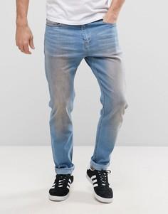 Облегающие джинсы с эффектом загрязненности Liquor & Poker - Синий