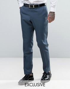 Облегающие свадебные брюки Heart & Dagger - Синий